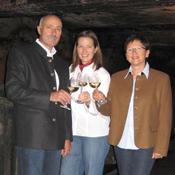 Family Seibert in their wine cellar